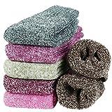 Tencoz Calcetines de Invierno Mujer, 6 Pares de Calcetines de Lana Cálidos, Calcetines Suaves y Calentitos Calcetines Térmicos Gruesos para Mujer