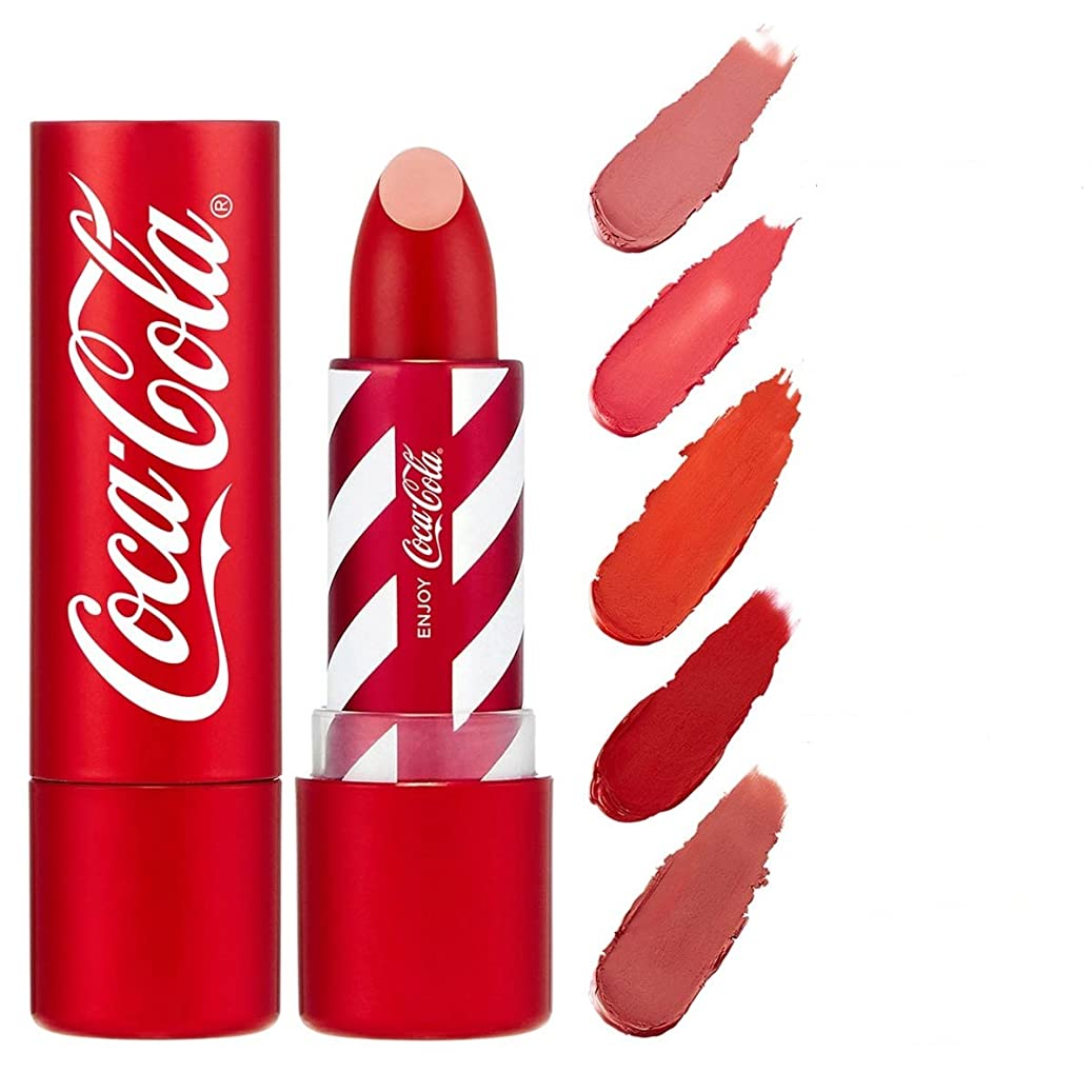 不従順火山の角度コカ?コーラ×THE FACE SHOP リップスティック ~ コカ?コーラ公式グッズ 04 COKE RED