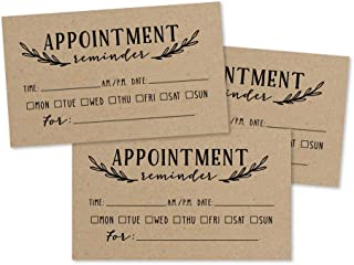 50 Rustic Kraft Appointment Reminder Cards, Next Apt. With Medical Doctor, Dental, Salon, Therapy, Dog Grooming, Cleaning Business, Custom Personalized Blank Recall Service Reminder Notes