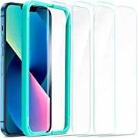 ESR Tempered-Glass Screen Protector Compatible with iPhone 13 and iPhone 13 Pro, with Easy Installation Frame, Ultra...