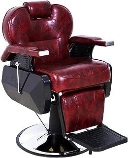 ARTIST HAND Black All Purpose Hydraulic Recline Barber Chair Salon Beauty Spa Shampoo StylingChair for Beauty Shop (1 PCS, Burgundy)