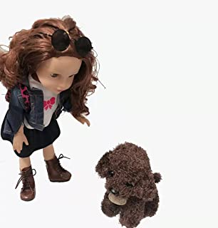 Sponsored Ad - Green breath 18-inch American Doll Girl Clothes Shoes Bag Sunglasses pet Dog 7-Piece Set Suitable for 18-in...