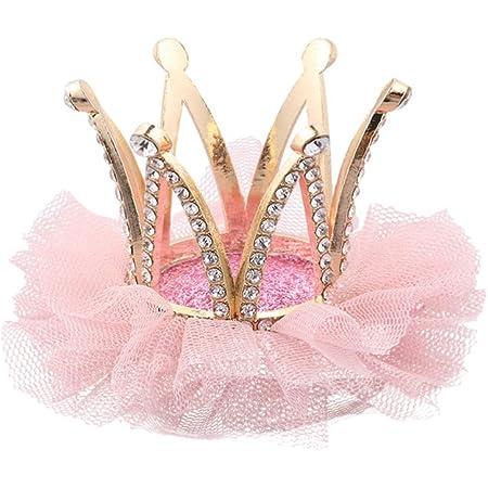 UK Seller Infant Toddler Girl Crown Tiara Princess Hair Clip Head Accessories
