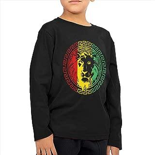 SARA NELL Reggae Rasta Flag Lion Toddler Boys&Girls Long Sleeve Tee T-Shirt 2-6T Black