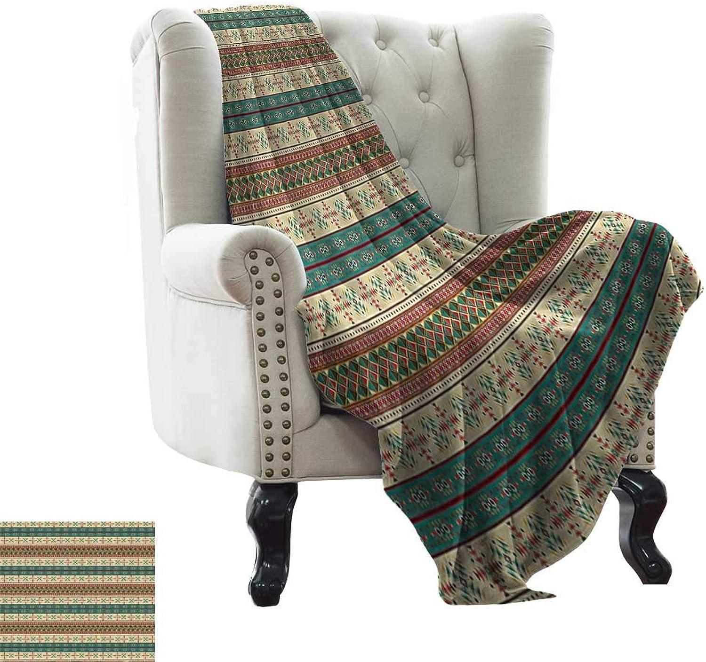 RenteriaDecor Native American Decor,Lightweight Blanket