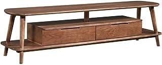 Lwieui Mesas para TV Mueble de televisión Muebles de Sala de Estar Home Solid Wood Cabineta TV Mesa TV Mesa de Centro Moni...