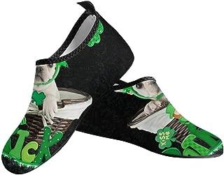 INTERESTPRINT Womens Barefoot Water Sports Shoes Aqua Socks for Swim Beach Pool Surf Yoga US6~US12