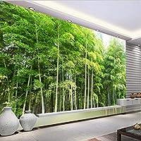 Ljjlm カスタム大規模壁画高精細環境竹風景壁画壁紙不織布壁紙-120X100Cm