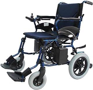 Sillas de ruedas eléctricas para adultos Silla de ruedas de rehabilitación médica, silla de ruedas, silla de ruedas plegable Accionamiento eléctrico ligero 25Kg, Asiento Ancho 45cm, Movilidad Silla, S