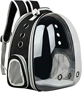 Floofi Pet Carrier Backpack Expandable, Clear Bubble Space Capsule for Small Dogs and Cats (Black)