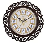Steven Quartz Designer Antique Wall Clock SQ-1618(Rust)