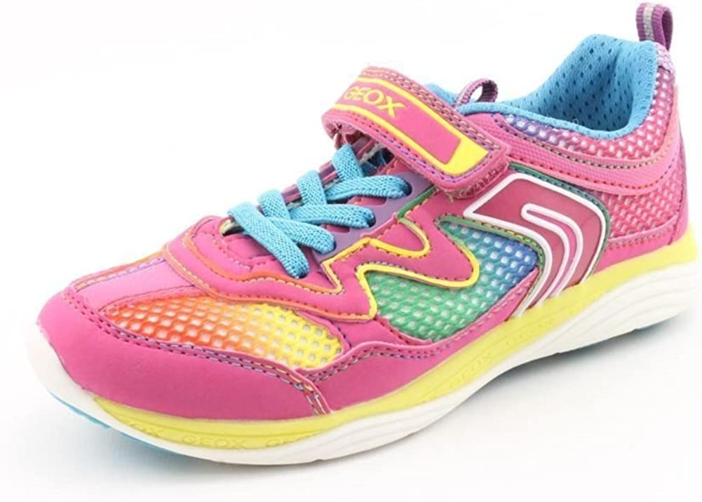 Geox J Emy A Youth Girls Sneakers (11M, Fuchsia)