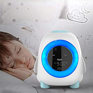 Kids Digital Wake Up Clock Alarm Clock, with 5 Sleep Sounds/Snooze/Temperatur/Calendar/NAP Timer, Children's Sleep Traine...