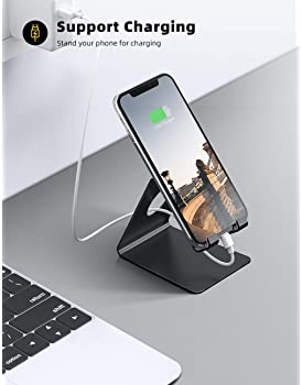 Lamicall Cell Phone Stand, Phone Dock: Cradle, Holder, Stand for Office Desk, Compatible with iPhone 12 Mini 11 Pro X...