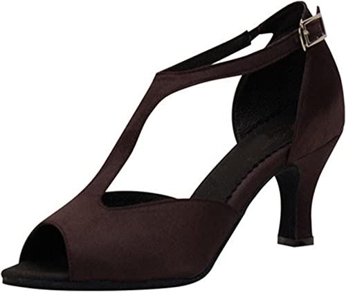 YFF Cadeaux Femmes Dance Danse Danse Latine Dance Tango Chaussures 6CM,marron,36