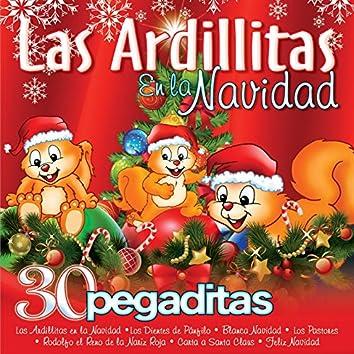 Las Ardillitas en la Navidad - 30 Pegaditas
