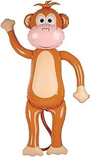 "57"" Jumbo Brown Tan Inflatable Monkey Zoo Animal Party Decoration"