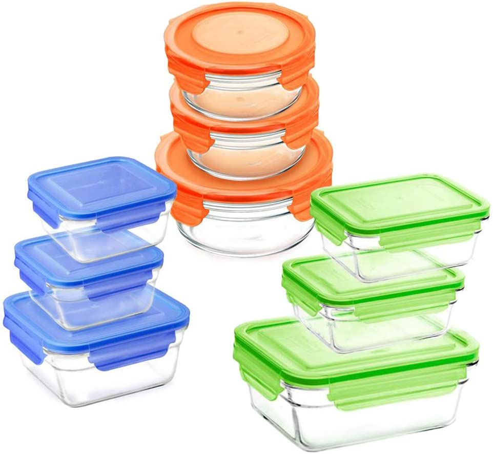 Glasslock Reusable Clearance SALE Limited time Food Storage Container Lids Ranking TOP14 with Set Locking