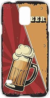 ハードケース スマホケース Galaxy S5 SC-04F・SCL23 対応 [BEER ビール・レッド] ビンテージ アメリカン レトロ USA SAMSUNG サムスン ギャラクシー エスファイブ docomo au スマホカバー 携帯ケ...