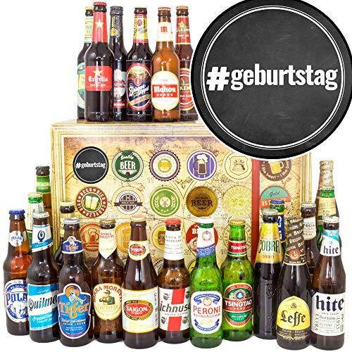 geburtstag / 24x Bier aus der Welt/Geburtstags Geschenkset/Weihnachtskalender für Ihn Bier