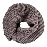 Marino's Women's Cable Knit Infinity Scarves, Fashion Winter Circle Scarf Wrap - Ash - One Size
