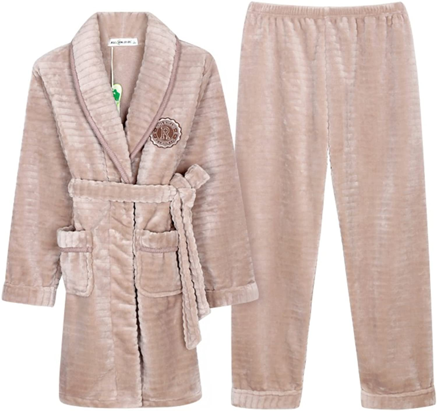 Couples Pyjamas Autumn And Winter Long Thicken Coral Women's Nightwear
