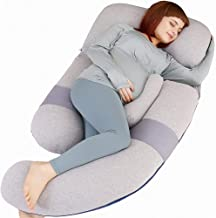 MOON PINE 60 inch Pregnancy Pillow, Detachable U Shape Full Body Pillow for Maternity Support, Sleeping Pillow for Pregnan...