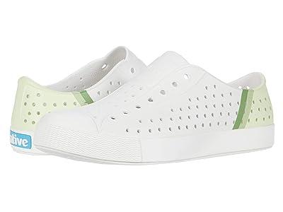 Native Kids Shoes Jefferson Block (Little Kid/Big Kid) (Shell White/Shell White/Cucumber Gradient) Kids Shoes