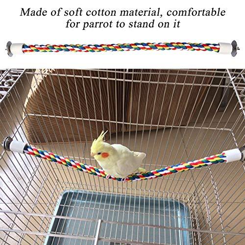 HEEPDD Vogel Touw Perch Katoenen Touwen Vogelkooi Papegaai Kauwen Speelgoed Ontwikkelen Vogel's Coördinatie Balans voor Parakeets Cockatiels Conures Macaws Papegaaien Liefde Vogels Finches