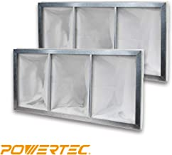 POWERTEC 75019-P2 Inner Air Filter for POWERTEC AF1044 Air Filtration System, 1 Micron   2 Pack