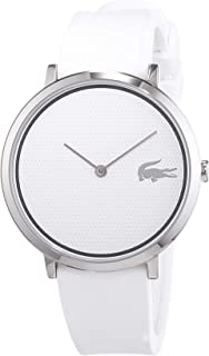 Lacoste Women's White Dial Silicone Band Watch - 2001029