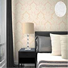 CYAuang Papel Tapiz del Dormitorio Ivory White/Light Teal/Black Gold/Red/Olive Luxury Metallic Black Silver Floral Damask Texture Wallpaper Roll