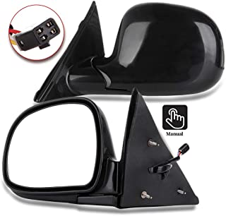 Aintier Towing Mirrors Compatible with 1994-97 Chevy S10 Pickup Power Mirror Pair Rear View Mirrors With black 15150851, 17801665