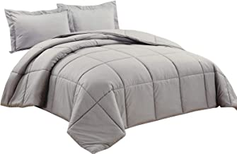 Chezmoi Collection 2-Piece Down Alternative Comforter Set (Twin, Paloma Gray)