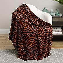 Ben&Jonah Animal Print Ultra Soft Brown Zebra King Size Microplush Blanket