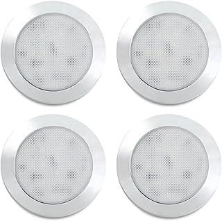 Dream Lighting LED 76mm Cabinet Down Light Ultra thin Silver Shell 12V Dome Ceiling Lamp RV Caravan Camper Trailer Motor h...