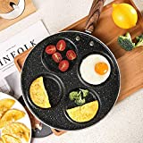 Egg Cooker 4-Cup 9 Inch Egg Frying Pan Non Stick Pan Suitable for Gas Stove & Induction Cooker