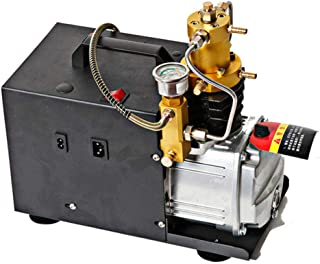 Hochdruck Druckluftpumpe Elektrischer Luftkompressor, PCP Luftpumpe mit Leuchtmanometer für normale Auto  und Fahrradreifen, 300BAR 30MPA 4500PSI 220V 1800W