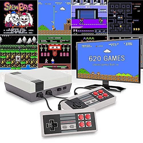 8 Bit TV Video Game Set for 2 Players Gaming with 620 Built-in | Two Player Tv Led LCD Video Gaming Console | Best Birthday Gift for Kids