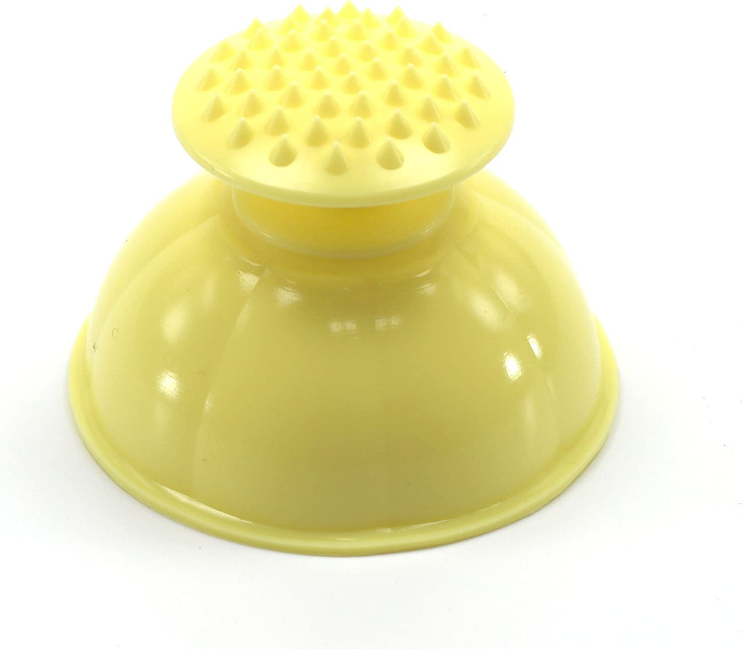 LENITH Silicone Mom Palm Cup for Baby Burping Helper Phlegm Sputum Spiky Massage Yellow