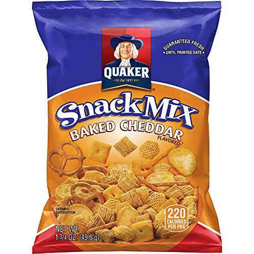 Quaker Baked Cheddar Snack Mix 175 Ounce Pack of 40 Packaging May Vary