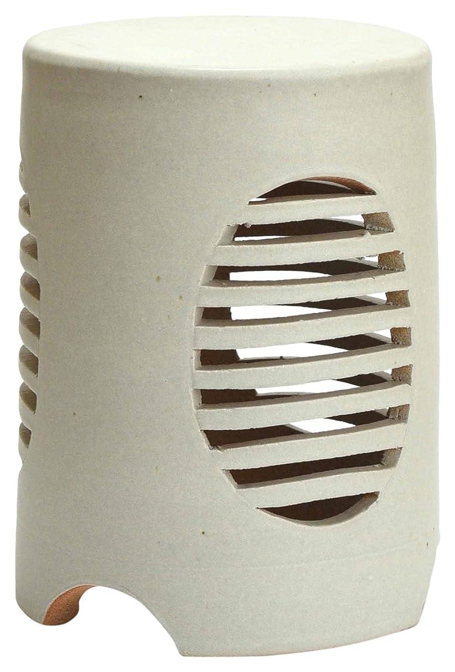 彼女自身ペニー伝統的白 RS-W 信楽焼ガーデンライトLED照明付 庭園陶器ライト サイズ:直径200㎜ x高さ270㎜