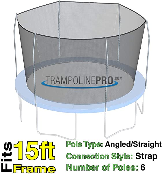 Trampoline Replacement Nets With Straps Sizes 12 Ft 14 Ft 15 Ft Net Only Poles Not Included