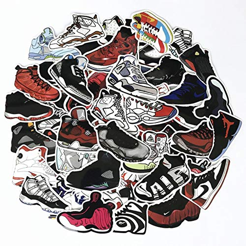 Inveroo 60pcs/Lot Basketball Stars Sneakers Sticker for Skateboard Travel Case Laptop Notebook Guitar Car Vinyl Dope Sticker Decals