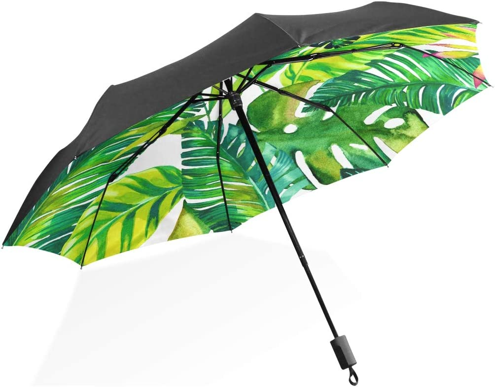 Handle Umbrella Tropical Hawaiian Palm Leaves Industry Sales for sale No. 1 Pattern Print Port
