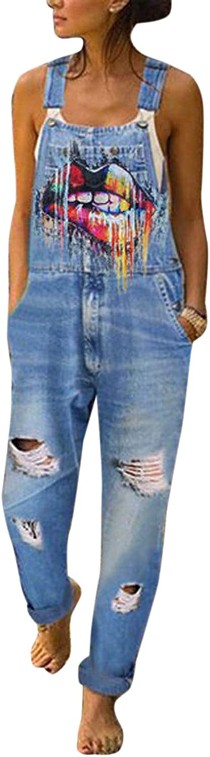 Yulinge Women Ripped Denim Overalls Floral Jumpsuits Dungarees Casual Destoryed Jeans Playsuit Bib Rompers Amazon Ca Clothing Accessories