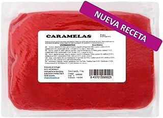 Caramelas Pasta Fondant Portuguesa Roja: Fácil de Usar, Flexible, para Repostería Casera y Profesional, Sin Gluten, 1kg
