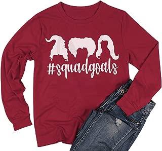Squad Goals Tshirt Women Funny Squad Goals Halloween Shirt Costume Casual Long Sleeve Top Blouse