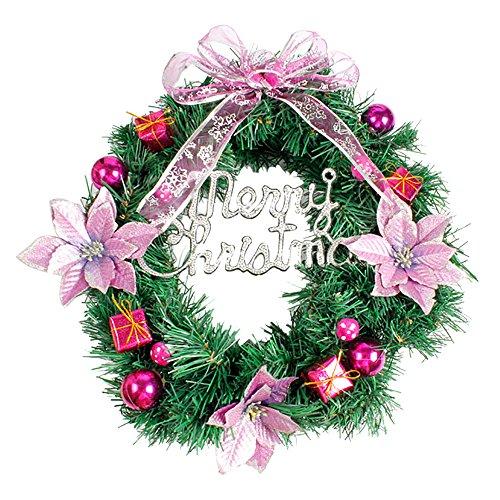 About1988 Weihnachten kränze Weihnachtsdeko Türkranz Kranz Dekokranz Weihnachten Garland, Weihnachtskranz für Deko, Weihnachten, Advent, als Stimmungslicht, Türkranz (Lila)