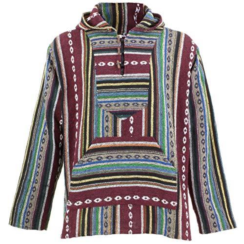 Loud Hoodies Baja - Sudadera con capucha para festival SURF, color granate, azul y verde
